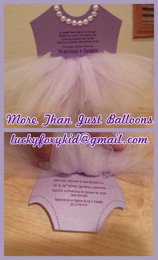 TuTu Invitation For A Baby Shower