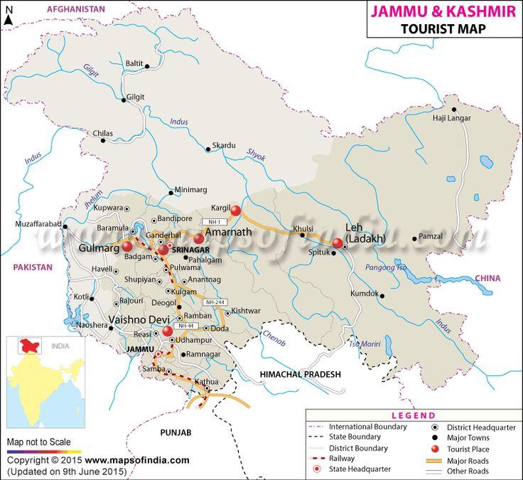 Jammu & Kashmir Travel Map