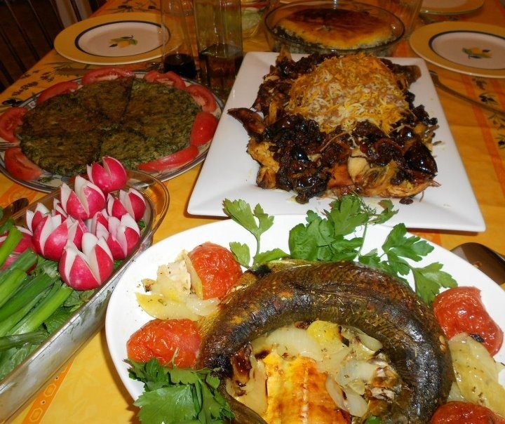 Persian new year dinner table all things persian for A treasury of persian cuisine