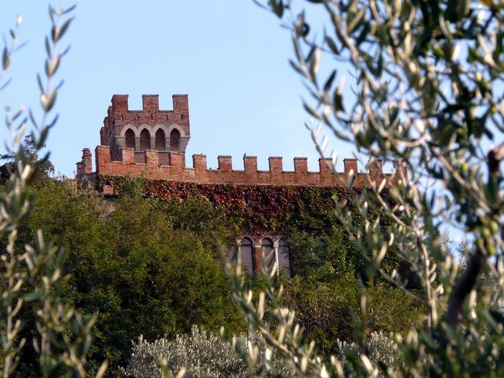 Il castello e la sua torre. Foto di Rita Dollmann.