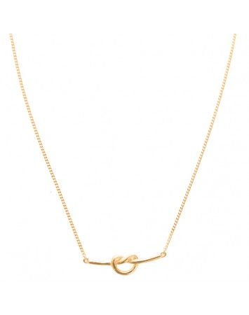 Pink Lou Lou Gold Love Knot Necklace