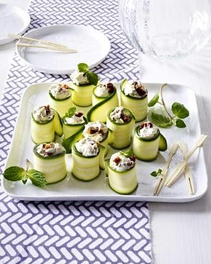 Zucchini-Röllchen mit Ziegenkäse Rezept