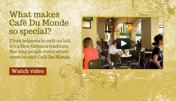 Welcome to Cafe Du Monde New Orleans | Cafe Du Monde French Market Coffee Stand