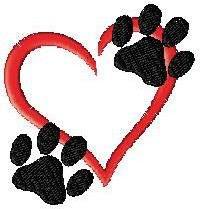 paws - tattoo? /// maybe not a heart but a fleur de lis