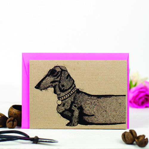 Sausage Dog Greeting Card - Photography by Holly Booth Photography.