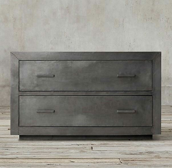 Metal cabinet for living room