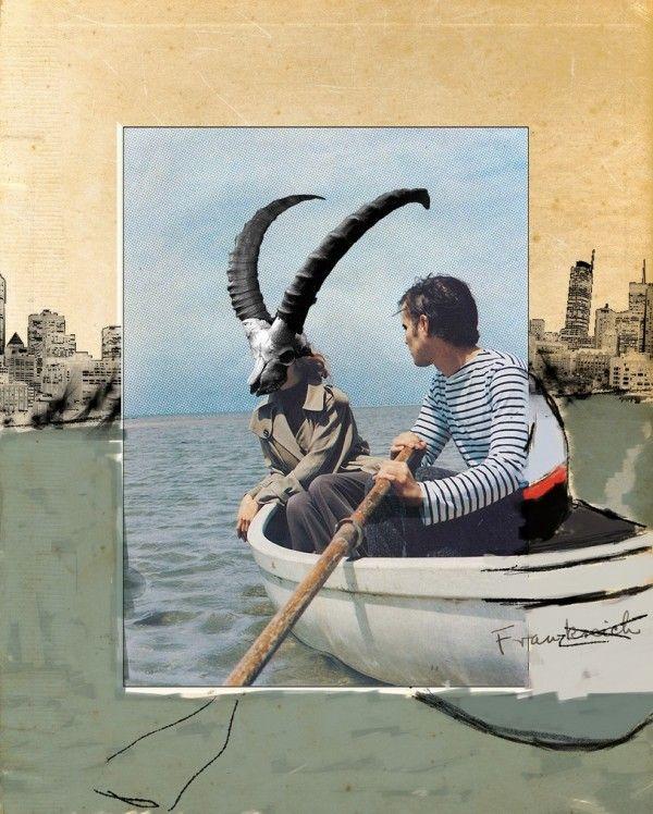 Franz Falckenhaus Mixed Media Collages