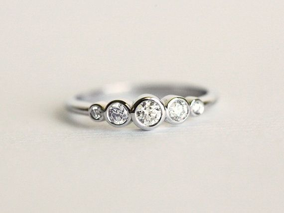 Bezel Diamond Ring Diamond Engagemet Ring Bezel by capucinne More