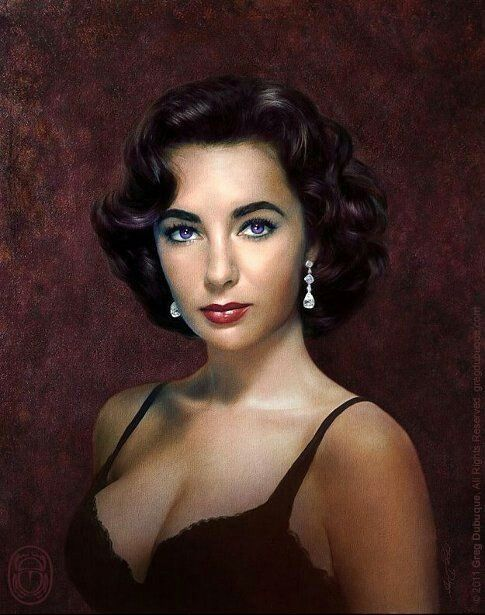 A beautiful painting of LIZ TAYLOR