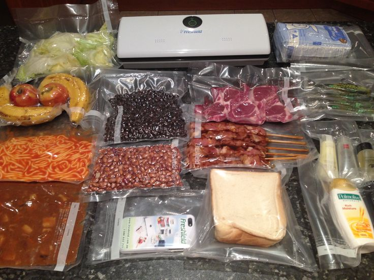 Vacuum sealed all food after bulk shopping!