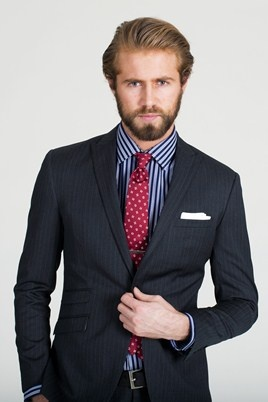 Charcoal Pinstripe Suit. #menswear #suit #barkers