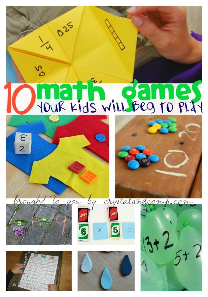 10 math games your kids will beg to play