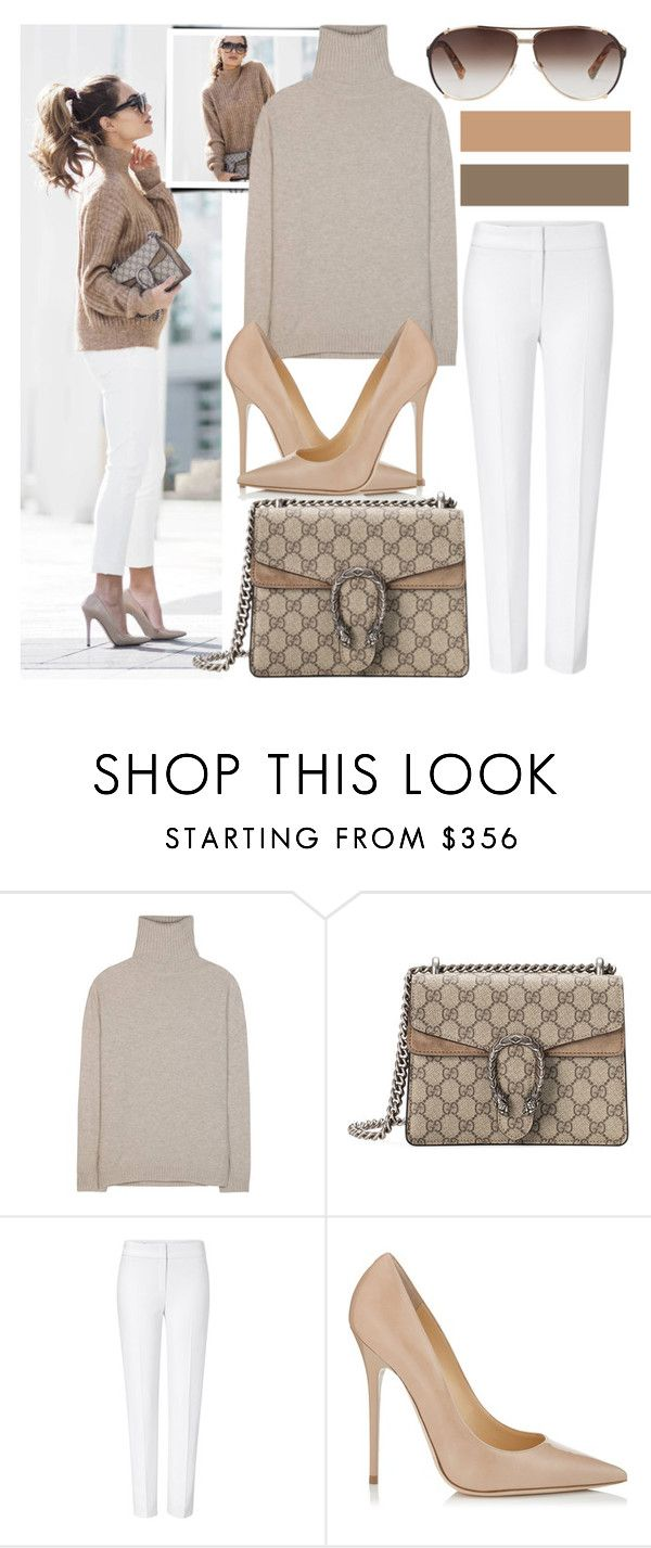 """""""Cozy Knits with Lydia Elise Millen..."""" by nfabjoy ❤ liked on Polyvore featuring Jardin des Orangers, Gucci, ESCADA, Jimmy Choo, Christian Dior, StreetStyle and BloggerStyle"""