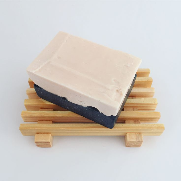 Soleseife - small bar. Salt brine soap made with Himalayan Pink Salt. Handmade artisan soap by Sparrow Soap, Perth, Western Australia.