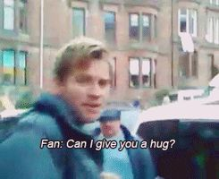 When he had the 100% correct response to a Glaswegian fan asking for a hug. | 21 Times Ewan McGregor Was Adorable, Geeky, And Deeply Hot