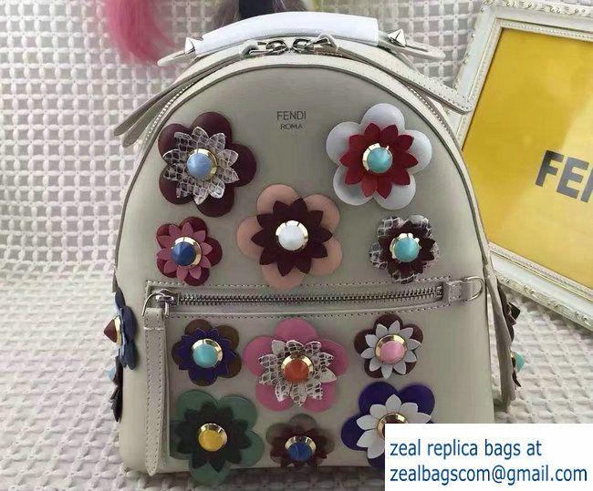 Fendi Flowerland Mini Zaino Backpack Bag Off White 01 Spring 2017