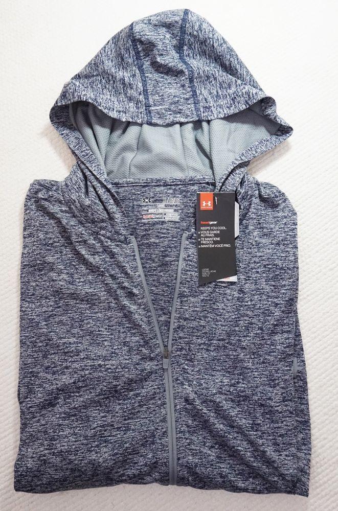 New Under Armour Men's Lightweight Zip Up Hoodie #HeatGear #Anti-Odor XL Navy #Underarmour #FullZipHoodie