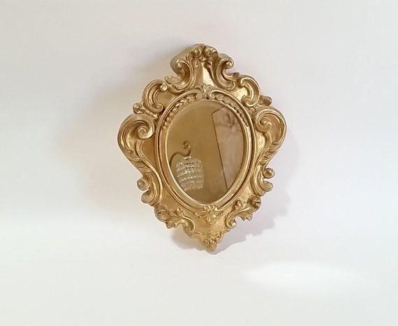 Gold Wall Mirror Hollywood Regency Wall Mirrors Decorative