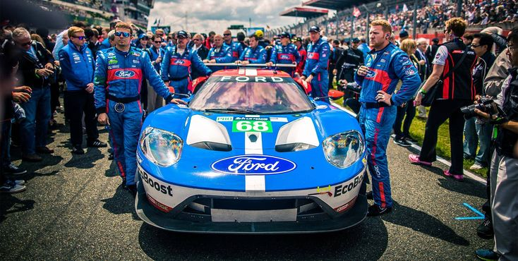 """""""Pre-Race Anticipation"""" Ford put everything into the new Ford GT -- World-class EcoBoost® engine technology, advanced aerodynamics and some of the most talented automotive engineers on the planet. Years of development were fueled by passion and a commitment to a single goal – to win."""