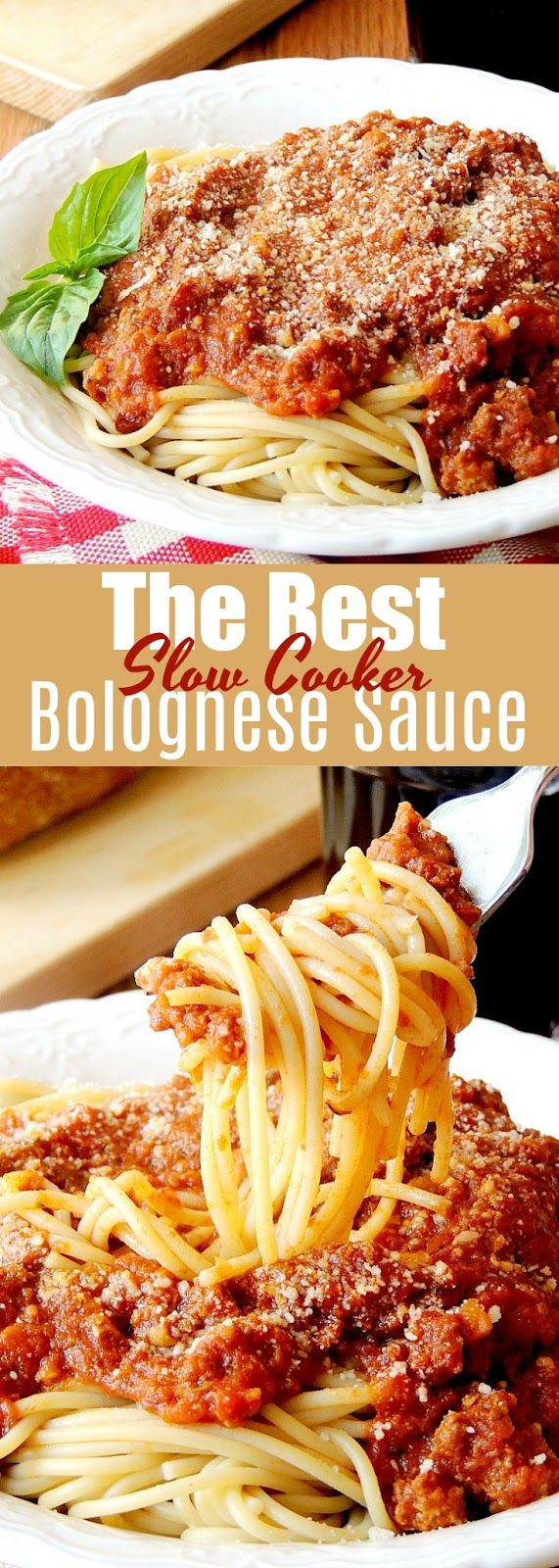 The Best Slow Cooker Bolognese Sauce - This bolognese sauce is so easy it is ridiculous! You let your slow cooker do all the work so you don't have to hover over a stove all day to enjoy this rich velvety pasta sauce. From www.bobbiskozykitchen.com