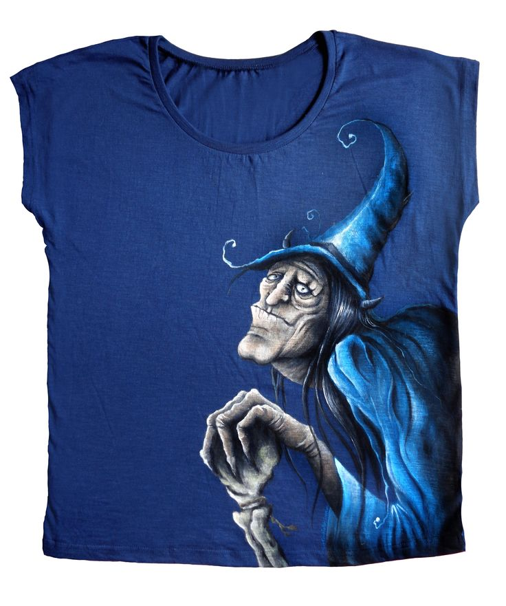 The Witch - Hand painted t-shirt from my collection on Etsy!