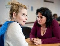 Moira Barton [NATALIE J ROBB] warns Charity Dingle [EMMA ATKINS] to keep her hands off Cain but is thrown Charity knows about her kiss with Pete.