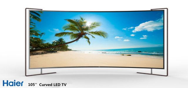 """Haier Unveils 105"""" LED and 55"""" OLED Curved TVs"""