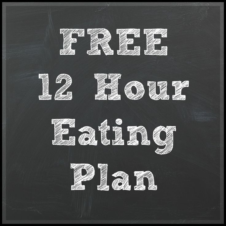 Simple eating plan with how to eat during a 12 hour shift, day or night