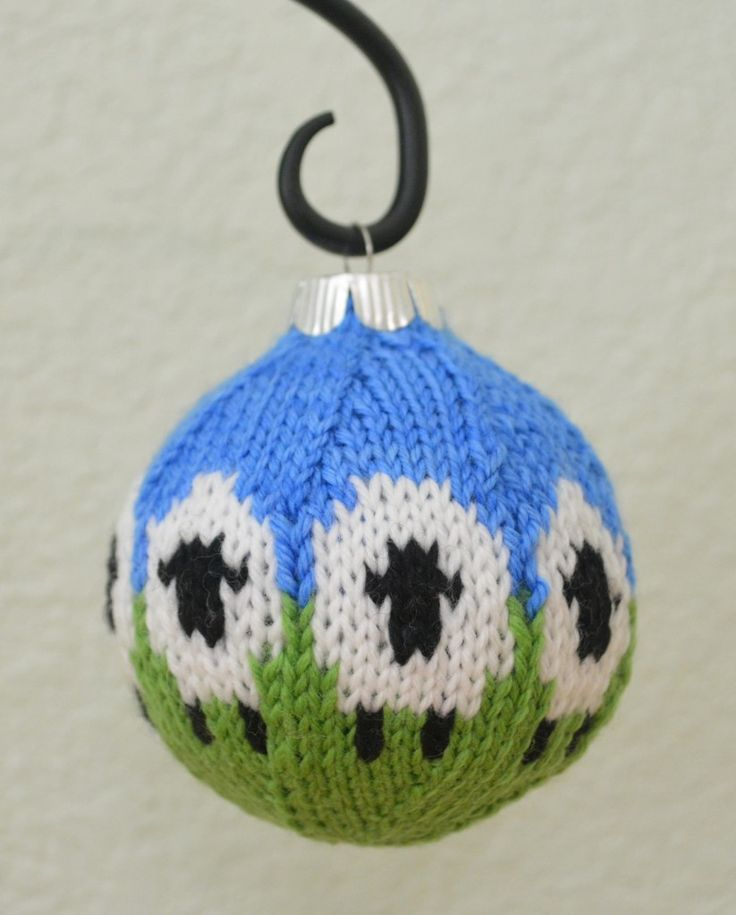 Loom Knit Christmas Ornaments Part - 33: Free Knitting Pattern Love This! Have Some Old Ornaments-not Glass