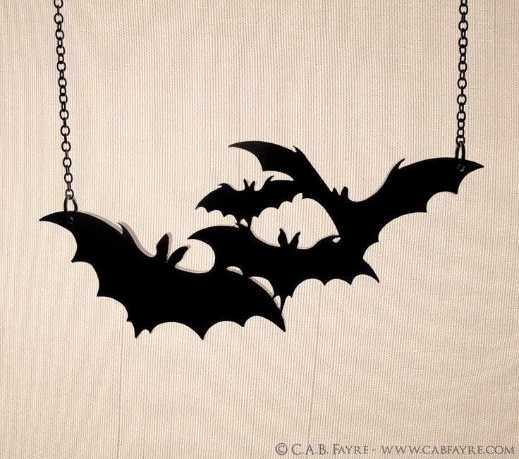 Twinkle, twinkle little bats How I wonder what you're at Necklace - Laser Cut Necklace (C.A.B. Fayre ORIGINAL DESIGN). $17.00, via Etsy.