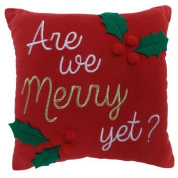 St.+Nicholas+Square+''Merry+Yet''+Small+Throw+Pillow