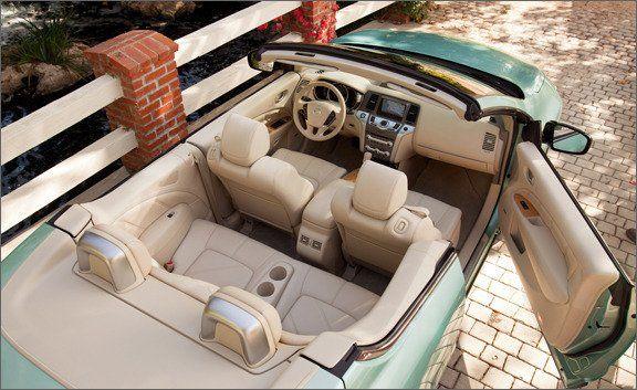 Nissan Murano CrossCabriolet interior.