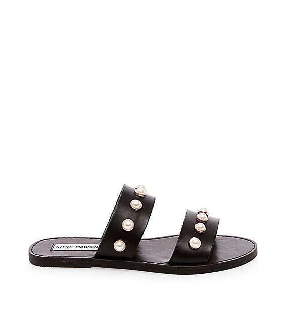 Discover JOLE by Steve Madden for a jewelry like effect for your feet.  Complete your summer look with an elegant, yet modern pearl strap sandals.