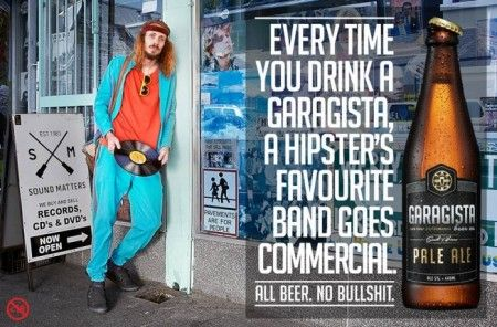 Garagista Beer Anti-Hipster Ad Campaign