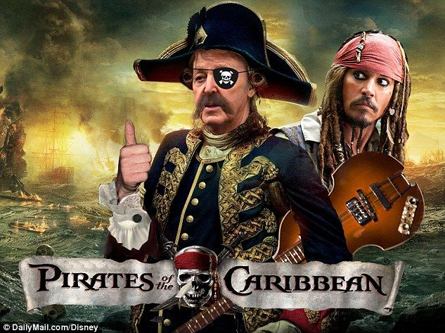 Paul McCartney lands role in Pirates Of The Caribbean: Dead Men Tell No Tales | Daily Mail Online