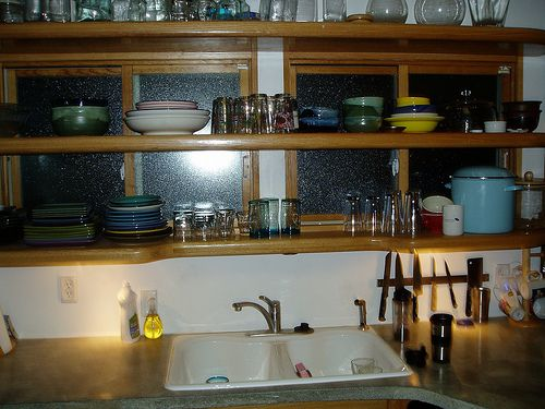 78 Best Ideas About Open Kitchen Cabinets On Pinterest Open Cabinets, Open Kitchen Shelving photo - 8