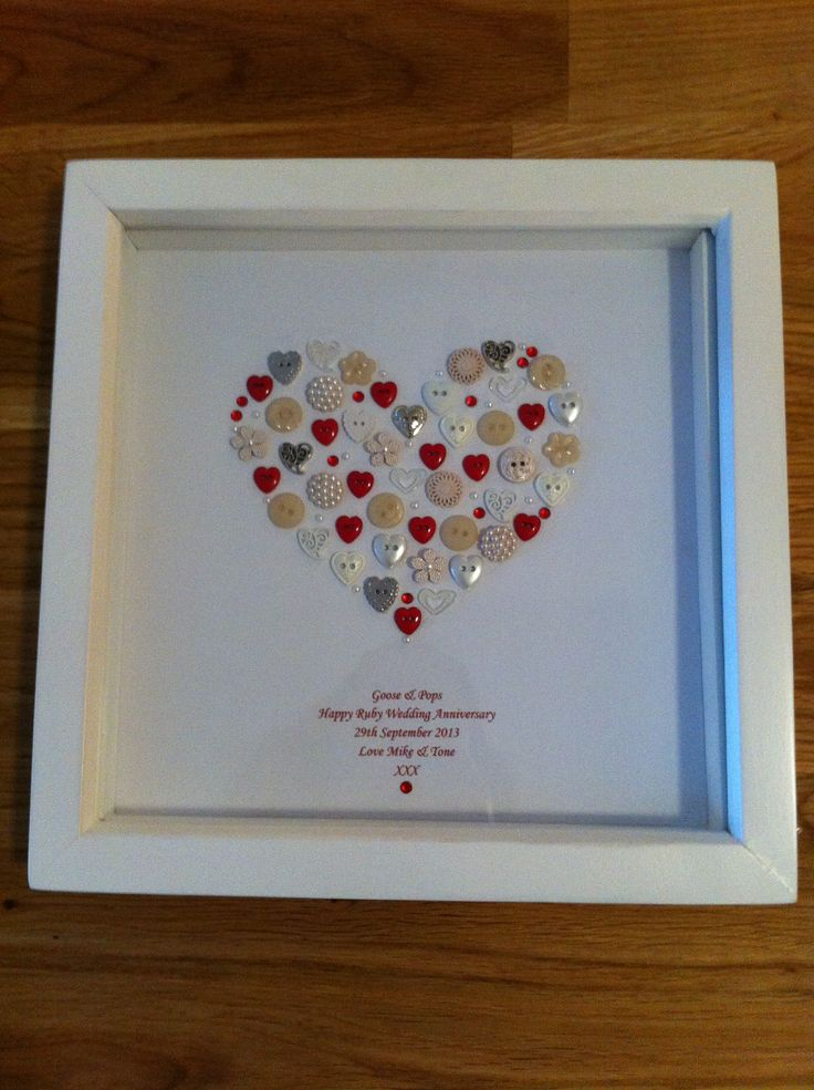 Ruby Wedding Gift For Parents : ... for a Ruby Wedding Anniversary gift. Tender Loving Craft