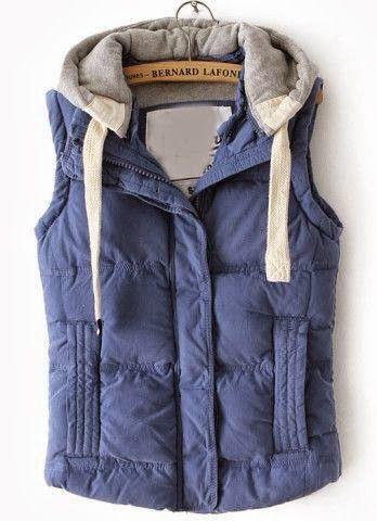 Blue Sleeveless Hoodie | Closet | Pinterest
