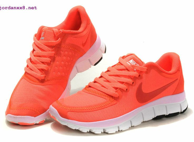 Orange And White Womens Tennis Shoes