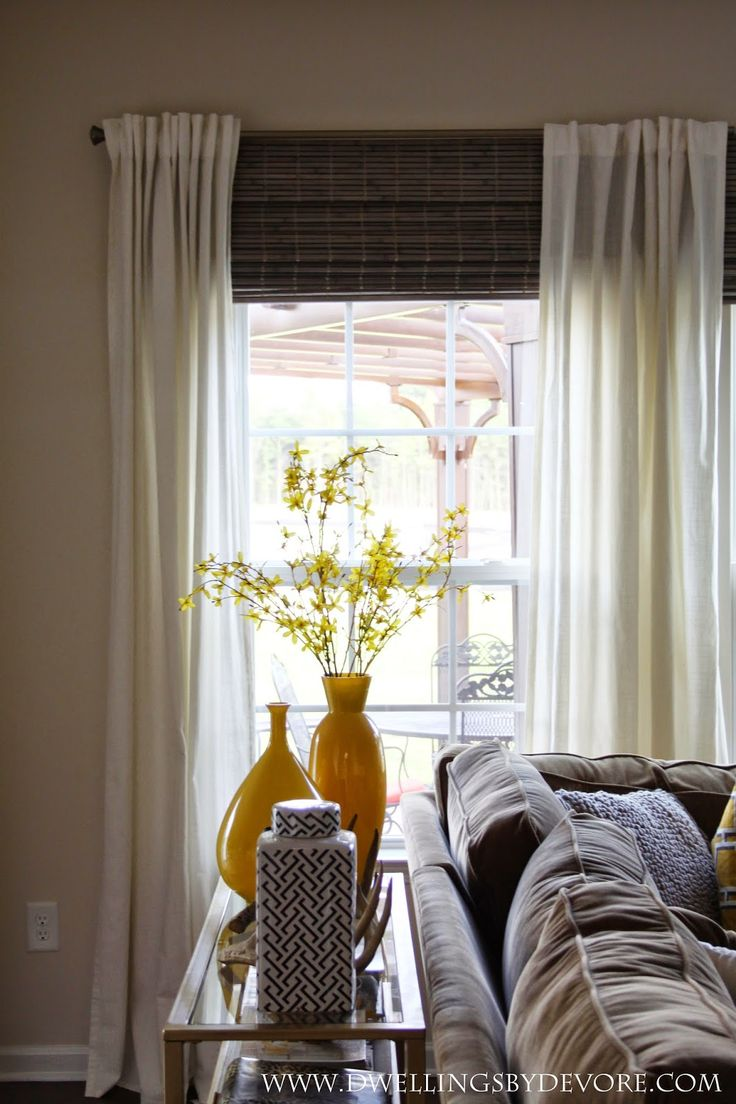 Dwellings By Devore Bamboo Shades To Make Your Windows Look Larger Like At Our Window