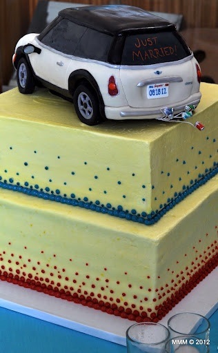 My MINI Cooper Custom Wedding Cake