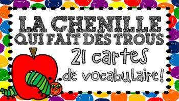 """Love Eric Carle & The Hungry Caterpillar! Can't wait to use with """"La chenille qui fait des trous"""" for my Kindergarten class :)"""