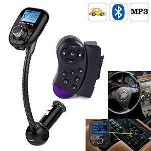 Volant de voiture Bluetooth avec écran LCD MP3 Lecteur FM Radio Transmetteur modulateur FM/SD/MMC/USB Audio stéréo-Neuf