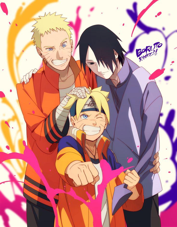 Tags: Fanart, NARUTO, Uzumaki Naruto, Uchiha Sasuke, Pixiv, Min Tosu, Fanart From Pixiv, Uzumaki Boruto