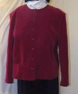 New Velvet Blazer Au Courant Japan Luxurious Chili Red Cotton Jacket XL   | eBay