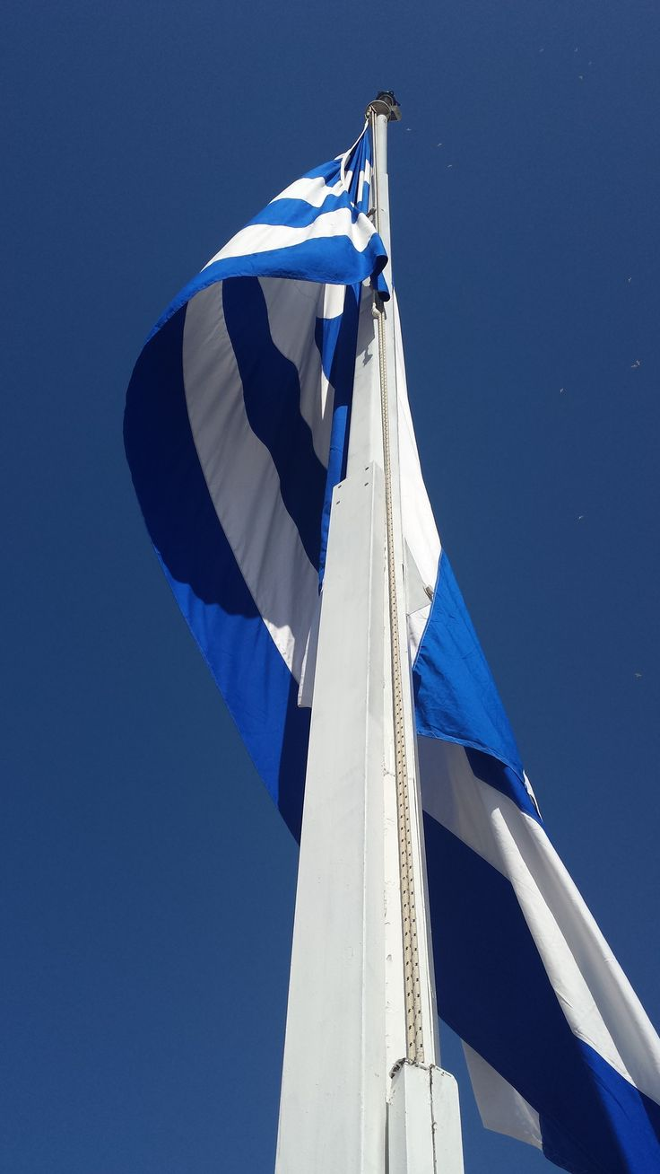 Greek flag, Acropolis, Athens, Greece