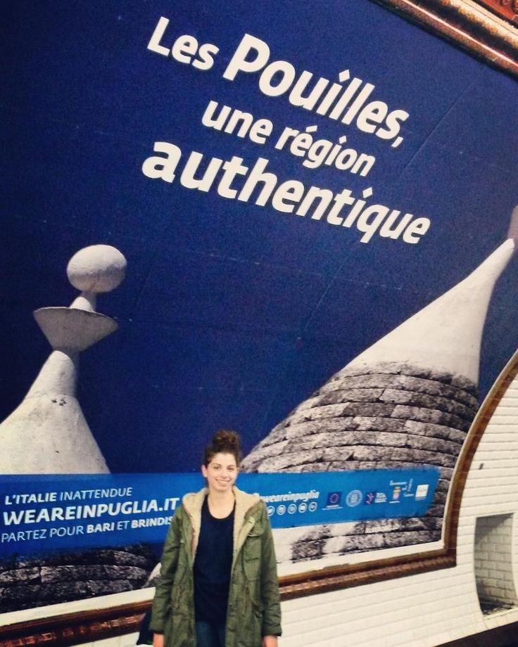 @renatabellanova tweets like this: #Paris #metro #puglia #weareinpuglia #lespuillesuneregionauthentique