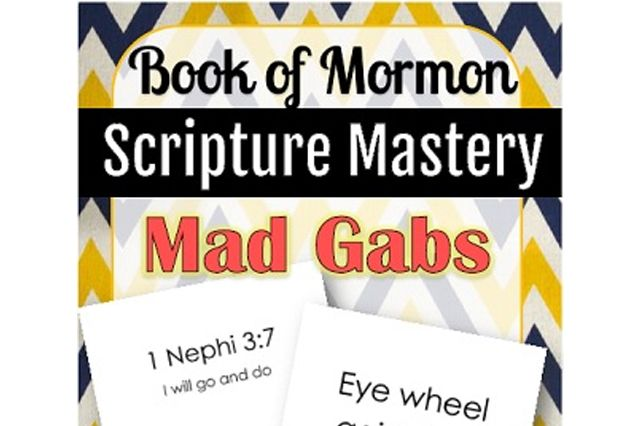 It is that time of year again! Time to put together the Scripture Mastery Mad Gabs! Mad Gabs is one of my favorite games – I remember the first time I played it with my friends, I was in high school it was one of those laugh-so-hard-you-cry moments. So naturally, when I began …