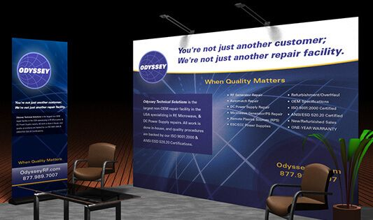 Design Custom Trade Show Banners or Trade Show Display just at £6.99 in order to make the most out of an exhibition or business conference, banners with appropriate information is a MUST!