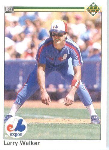 1990 Upper Deck Baseball Card of Larry Walker